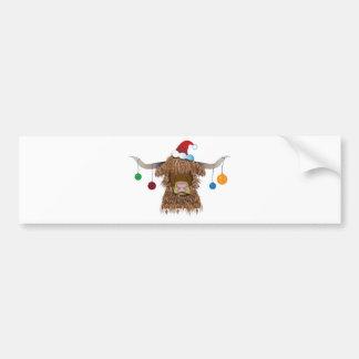 Christmas Cow Bumper Sticker