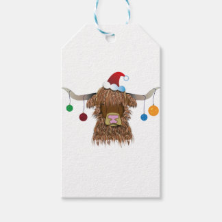 Christmas Cow Gift Tags