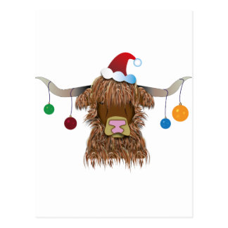 Christmas Cow Postcard