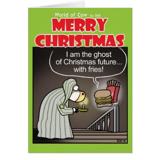 Christmas Cow-ral Card