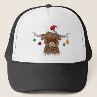 Christmas Cow Trucker Hat
