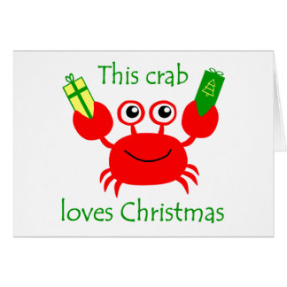 Christmas Crab Card