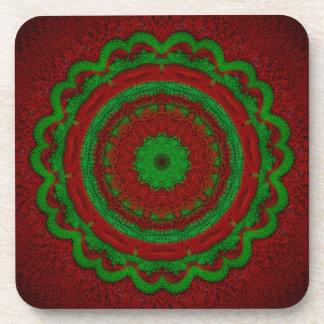 Christmas Crochet Beverage Coaster