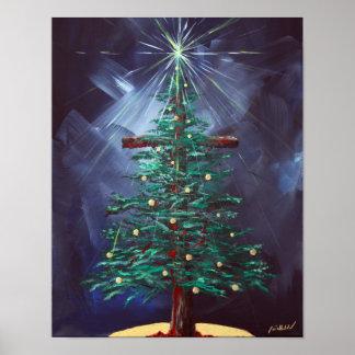 Christmas Cross (Christmas Tree) Poster