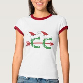 Christmas Cross Country Running © T-Shirt
