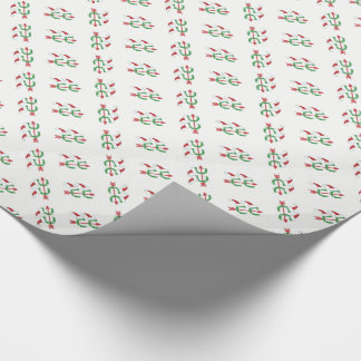 Christmas Cross Country Running Wrapping Paper
