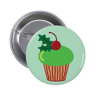 Christmas Cupcake 2 Inch Round Button