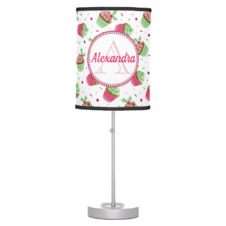 Christmas cupcake design in Christmas colors Table Lamp