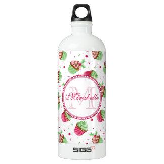 Christmas cupcake design, Name & Monogram Water Bottle