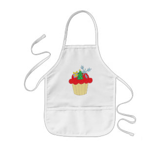 Christmas Cupcake Kids Apron