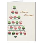 Christmas Cupcake Stand Card