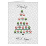 Christmas Cupcake Tree Stand Card