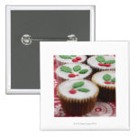 Christmas cupcakes 2 inch square button
