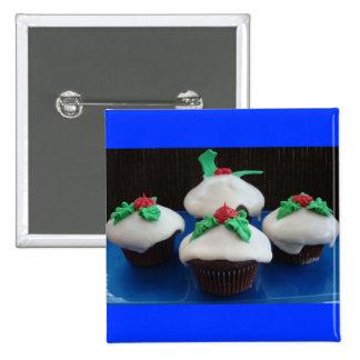 Christmas Cupcakes Pinback Button