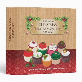 Christmas Cupcakes Recipe Vinyl Binder