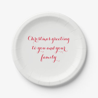 "christmas custom paper plates 7"""
