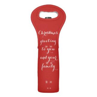 christmas custom wine tote
