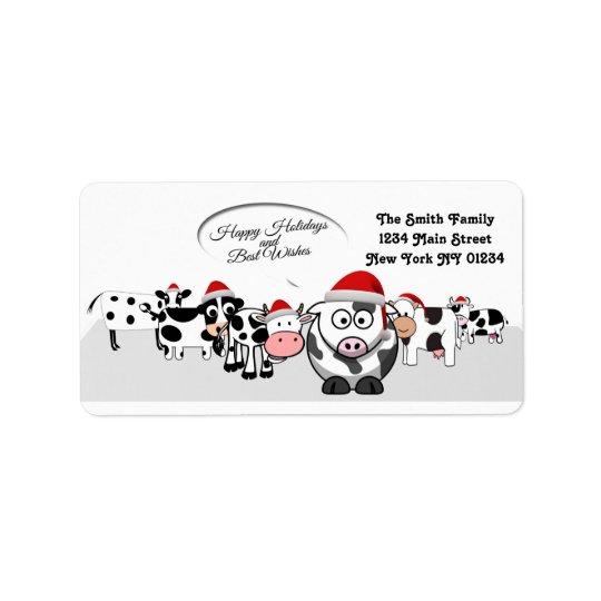 Christmas Cute Cows Happy Holidays
