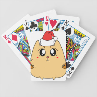 Christmas Cute Kitty Cat Bicycle Playing Cards
