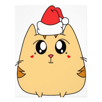 Christmas Cute Kitty Cat Letterhead