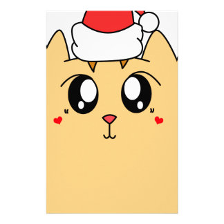 Christmas Cute Kitty Cat Stationery