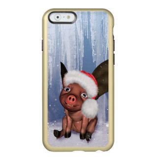Christmas, cute little piglet incipio feather® shine iPhone 6 case