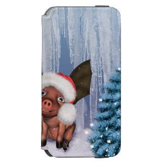 Christmas, cute little piglet incipio watson™ iPhone 6 wallet case