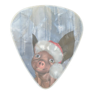 Christmas, cute little piglet pearl celluloid guitar pick