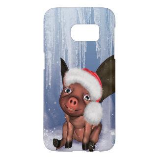 Christmas, cute little piglet samsung galaxy s7 case