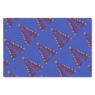 Christmas Cute Lobster tree Nautical blue Tissue Paper