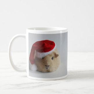 christmas cute santa guinea pig mug
