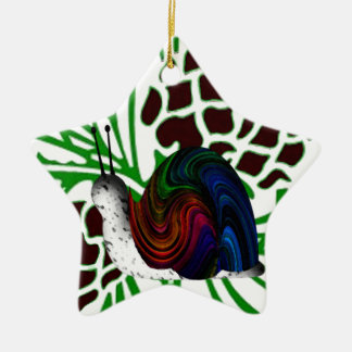 Christmas cute snail ceramic ornament