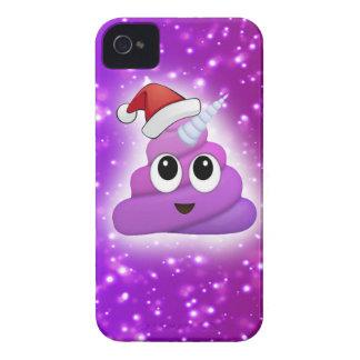 Christmas Cute Unicorn Poop Emoji Glow Case-Mate iPhone 4 Case
