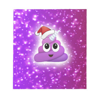 Christmas Cute Unicorn Poop Emoji Glow Notepad