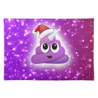 Christmas Cute Unicorn Poop Emoji Glow Placemat