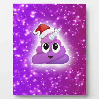 Christmas Cute Unicorn Poop Emoji Glow Plaque