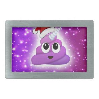Christmas Cute Unicorn Poop Emoji Glow Rectangular Belt Buckle