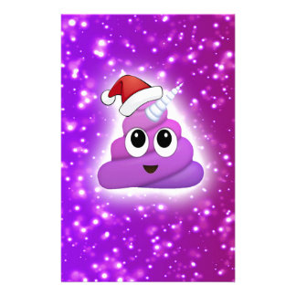 Christmas Cute Unicorn Poop Emoji Glow Stationery