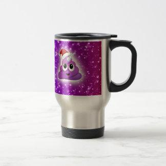 Christmas Cute Unicorn Poop Emoji Glow Travel Mug