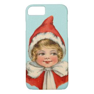 Christmas Cute Vintage Elf Girl iPhone 7 Case