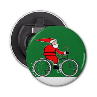 Christmas Cyclist Bottle Opener