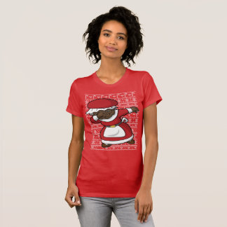 Christmas Dabbing Black Mrs Claus T-Shirt