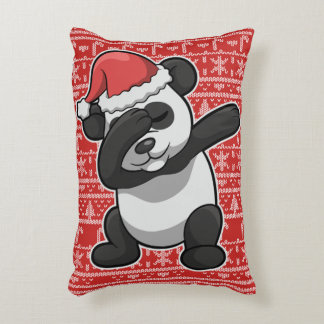 Christmas Dabbing Panda Bear Dab Accent Pillow
