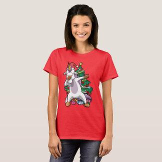 Christmas Dabbing Unicorn Dab T-Shirt