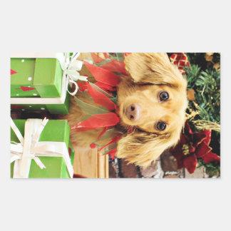 Christmas - Dachshund - Bo Stickers