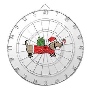 Christmas dachshund dartboard