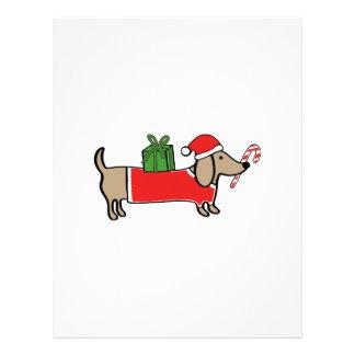 Christmas dachshund letterhead