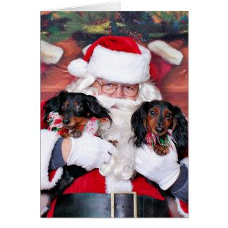 Christmas - Dachshund - Mickey & Madilyn Card
