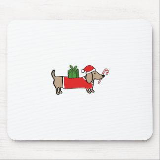 Christmas dachshund mouse pad