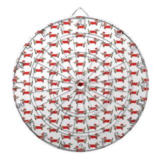 Christmas dachshund pattern dartboard